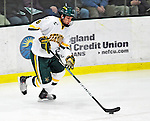 30 November 2009: University of Vermont Catamount defenseman Kyle Medvec, a Junior from Burnsville, MN, in action against the Yale University Bulldogs at Gutterson Fieldhouse in Burlington, Vermont. The Catamounts shut out the Bulldogs 1-0 in a rematch of last season's first round of the NCAA post-season playoff Tournament. Mandatory Credit: Ed Wolfstein Photo