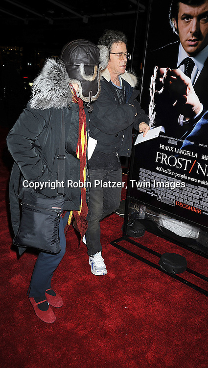 "Lori Anderson and Lou Reed..posing for photographers at The New York Premiere of..""FROST/NIXON"" on November 17, 2008 at The Ziegfeld Theatre. ....Robin Platzer, Twin Images"