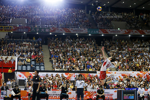 Masahiro Yanagida (JPN), SEPTEMBER 21, 2015 - Volleyball : FIVB Men's World Cup 2015 A-site 3rd Round between Japan 0-3 Argentina 1st Yoyogi Gymnasium in Tokyo, Japan. (Photo by Yusuke Nakanishi/AFLO SPORT)