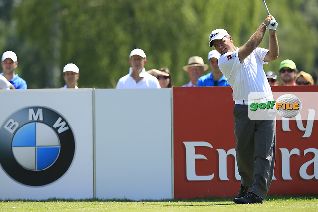 Thomas Levet (FRA) tees off the 6th tee during Thursday's Round 1 of the 2013 BMW International Open held on the Eichenried Golf Club, Munich, Germany. 20th June 2013<br /> (Picture: Eoin Clarke www.golffile.ie)