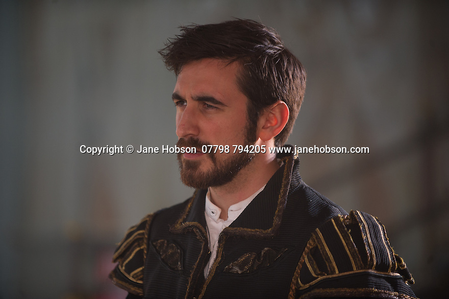 London, UK. 25.04.2014. VENICE PRESERV'D, a site responsive production, by the Spectators' Guild, opens at Payne & Borthwick Wharf. Picture shows: Ferdinand Kingsley (as Pierre). Photograph © Jane Hobson.