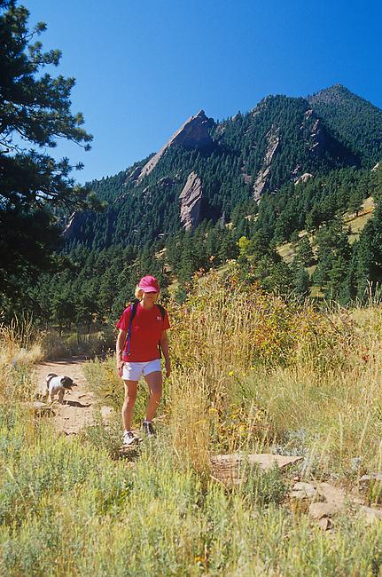 Woman Hiking, Boulder, Colorado