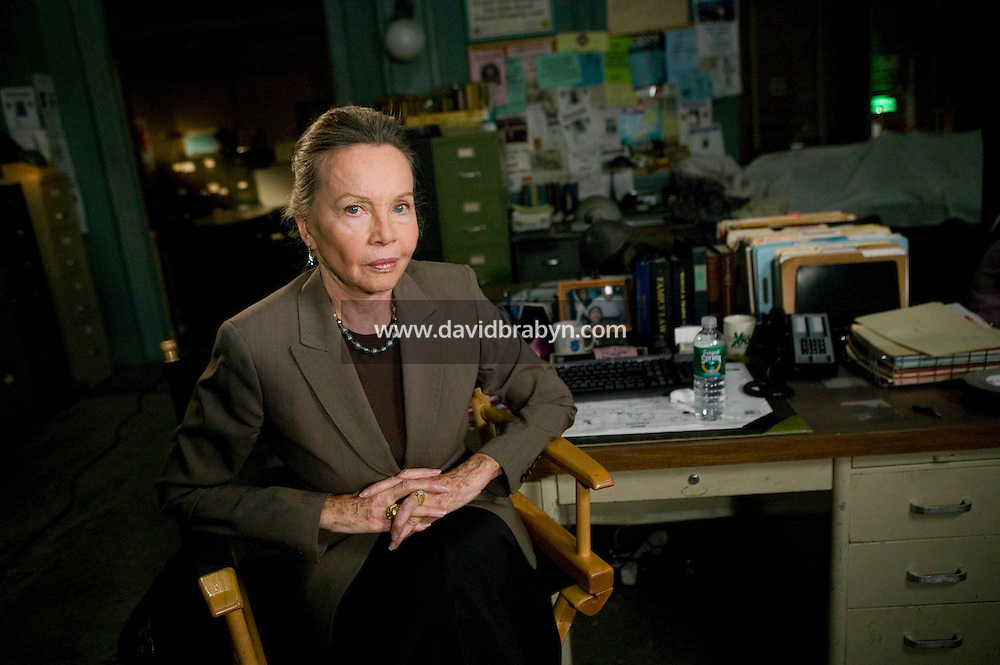 "8 May 2006 - North Bergen, NJ - French actress Leslie Caron poses for the photograph on the studio set of television show ""Law & Order: SVU"" in North Bergen, USA, 8 May 2006. In this rare appearance in front of American television cameras, Caron, 74, plays a French victim of past sexual molestation in an episode entitled ""Recall"" due to air in the fall. Caron starred in Hollywood classics such as ""An American in Paris"" (1951), ""Lili"" (1953), ""Gigi"" (1958). More recently she appeared in ""Chocolat"" (2000) and ""Le Divorce"" (2003). Photo Credit: David Brabyn"