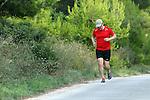09.08.2014., Hvar - Croatian Prime Minister Zoran Milanovci in the evening run on the roads of the island.<br /> <br /> Foto &copy;  nph / PIXSELL / Goran Jakus