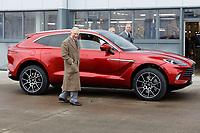 Pictured: Prince Charles having just driven a brand new Aston Martin DBX. Friday 21 February 2020<br /> Re: HRH Prince Charles visits the Aston Martin Lagonda factory in St Athan, south Wales, UK.