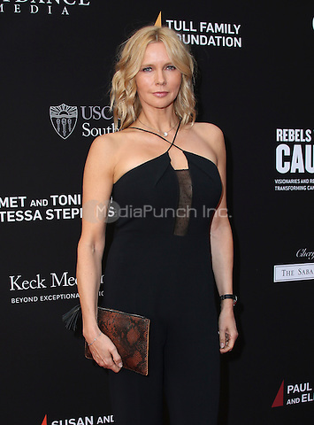 SANTA MONICA, CA - MAY 11: Veronica Ferres arrives at the 3rd Biennial Rebels With A Cause Fundraiser at Barker Hangar on May 11, 2016 in Santa Monica, California.  Credit: Parisa/MediaPunch.