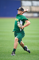 Lynchburg Hillcats relief pitcher Cameron Hill (15) during practice before a game against the Wilmington Blue Rocks on June 3, 2016 at Judy Johnson Field at Daniel S. Frawley Stadium in Wilmington, Delaware.  Lynchburg defeated Wilmington 16-11 in ten innings.  (Mike Janes/Four Seam Images)