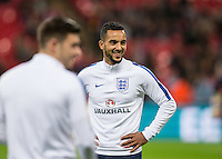 Theo Walcott (Arsenal) of England smiles before the International Friendly match between England and Spain at Wembley Stadium, London, England on 15 November 2016. Photo by Andy Rowland.