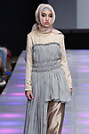 Model walks runway in an outfit from the Silka Mitrasari collection for Couture Fashion Week Spring 2018 at the Crowne Plaza Times Square in Manhattan, on September 8, 2017; during New York Fashion Week.