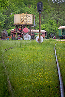 The Eureka Springs & North Arkansas Railway located in the restored historic Eureka Springs depot, in Eureka Springs Arkansas has a collection of vintage rolling stock which is one of the Ozarks' largest, and all the authentic railroad memorabilia to re-create the turn-of-the-century era.