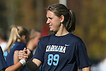 08 November 2009: North Carolina's Katie Klimczak. The University of North Carolina Tar Heels defeated the Florida State University Seminoles 3-0 at WakeMed Stadium in Cary, North Carolina in the Atlantic Coast Conference Women's Soccer Tournament Championship game.