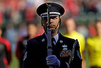 Portland, Oregon - Sunday September 4, 2016: Air Force Honor Guard during a regular season National Women's Soccer League (NWSL) match at Providence Park.