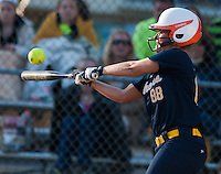 Perryville's Lindsey Poore takes a swing during the 19-0 shutout win against Elkton High at Elkton.