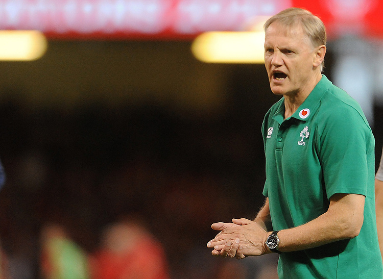 Head coach Joe Schmidt <br /> <br /> Photographer Ian Cook/CameraSport<br /> <br /> 2019 Under Armour Summer Series - Wales v Ireland - Saturday 31st August 2019 - Principality Stadium - Cardifff<br /> <br /> World Copyright © 2019 CameraSport. All rights reserved. 43 Linden Ave. Countesthorpe. Leicester. England. LE8 5PG - Tel: +44 (0) 116 277 4147 - admin@camerasport.com - www.camerasport.com