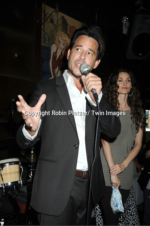 Ricky Paull Goldin  and Alicia Minshew attending the Good Night Pine Valley Event co-hosted by All My Children actors Ricky Paull Goldin and Alicia Minshew on September 17, 2011 at Prohibition in New York City