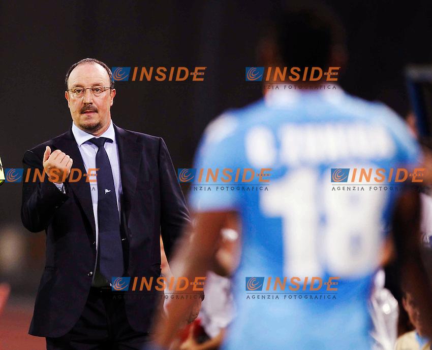 Rafael Benitez Coach <br /> Napoli 25-08-2013 Stadio San Paolo <br /> Football Calcio Serie A<br /> Napoli - Bologna <br /> Foto Ciro De Luca Agn Insidefoto