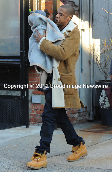 Pictured: Beyonce Knowles, Jay Z, Blue Ivy<br /> Mandatory Credit &copy; Jayme Oak/Broadimage<br /> Jay Z and wife Beyonce Knowles take their precious cargo baby Blue Ivy to lunch in a restaurant in Brooklyn in New York City<br /> <br /> 1/20/14, New York, New York, United States of America<br /> <br /> Broadimage Newswire<br /> Los Angeles 1+  (310) 301-1027<br /> New York      1+  (646) 827-9134<br /> sales@broadimage.com<br /> http://www.broadimage.com<br /> <br /> <br /> Pictured: Beyonce Knowles, Jay Z, Blue Ivy<br /> Mandatory Credit &copy; Jayme Oak/Broadimage<br /> Jay Z and wife Beyonce Knowles take their precious cargo baby Blue Ivy to lunch in a restaurant in Brooklyn in New York City<br /> <br /> 1/20/14, New York, New York, United States of America<br /> Reference: 011914_JKNY_BDG_022<br /> <br /> Broadimage Newswire<br /> Los Angeles 1+  (310) 301-1027<br /> New York      1+  (646) 827-9134<br /> sales@broadimage.com<br /> http://www.broadimage.com