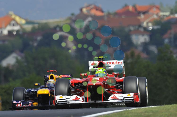 Formula 1 Race 11, GP of Hungary, Budapest - 27.-29. Juli 2012.Felipe Massa (BRA), Scuderia Ferrari - Sebastian Vettel (GER), Red Bull Racing ..Picture :Hasan Bratic/Universal News And Sport (Europe) 27 July 2012