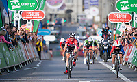 Picture by Allan McKenzie/SWpix.com - 17/05/2018 - Cycling - OVO Energy Tour Series Womens Race - Round 2:Aberdeen - Nicola Juniper wins her first Tour Series stage in Aberdeen.