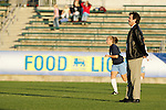 UNC head coach Anson Dorrance on Friday, November 4th, 2005 at SAS Stadium in Cary, North Carolina. The University of North Carolina Tarheels defeated the Duke University Blue Devils 2-1 in their Atlantic Coast Conference Tournament Semifinal game.