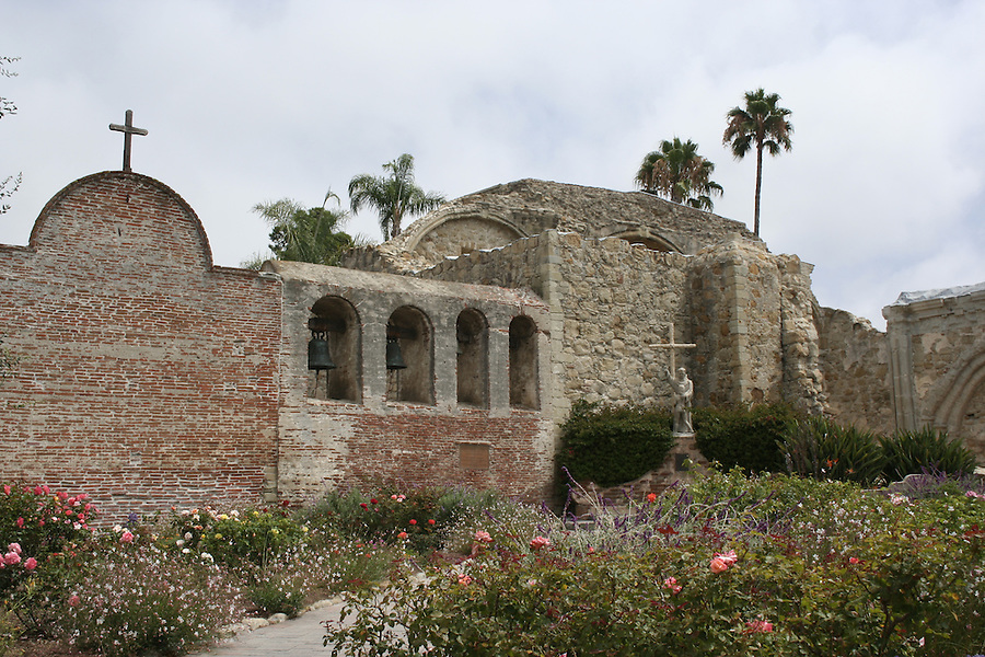 Church bells and ruins at San Juan Capistrano