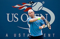Rainer SCHUETTLER (GER) against Jan HERNYCH (CZE) in the first round. Hernych beat Schuettler 1-6 7-6 6-4 2-6 6-3..International Tennis - US Open - Day 1 Mon 31 Aug 2009 - USTA Billie Jean King National Tennis Center - Flushing - New York - USA ..Frey,  Advantage Media Network, Barry House, 20-22 Worple Road, London, SW19 4DH