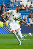 Spanish league football league between Real Madrid vs Levante at Santiago Bernabeu stadium in Madrid on Septemberl 14, 2019.<br /> Real Madrid's player Benzema