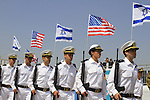 Israeli Navy soldiers, Guard of Honor for US presidend Barack Obama at the welcoming ceremony at Ben Gurion Airport