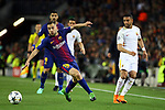 UEFA Champions League 2017/2018.<br /> Quarter-finals 1st leg.<br /> FC Barcelona vs AS Roma: 4-1.<br /> Jordi Alba vs Bruno Peres.