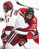 Kyle Criscuolo (Harvard - 11), Jimmy DeVito (RPI - 20) - The Harvard University Crimson defeated the visiting Rensselaer Polytechnic Institute Engineers 5-2 in game 1 of their ECAC quarterfinal series on Friday, March 11, 2016, at Bright-Landry Hockey Center in Boston, Massachusetts.