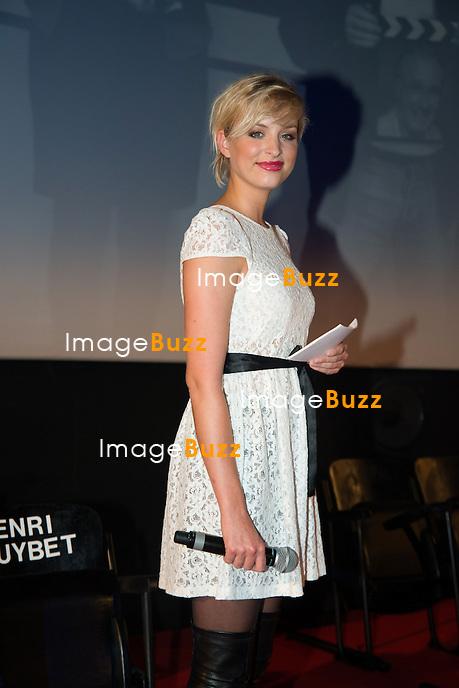 Aliz&eacute;e Poulicek ( Miss Belgique 2008 ) &agrave; la 8&egrave;me &eacute;dition du Festival International du Film Policier de Li&egrave;ge.<br /> Belgique, Li&egrave;ge, 24/04/14
