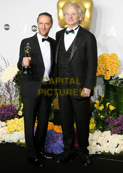 02 March 2014 - Hollywood, California - Emmanuel Lubezki, Bill Murray. 86th Annual Academy Awards held at the Dolby Theatre at Hollywood &amp; Highland Center. <br /> CAP/ADM<br /> &copy;AdMedia/Capital Pictures