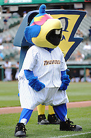 Trenton Thunder mascot Boomer during game against the Altoona Curve at ARM & HAMMER Park on July 24, 2013 in Trenton, NJ.  Altoona defeated Trenton 4-2.  Tomasso DeRosa/Four Seam Images