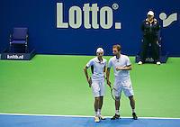 18-12-13,Netherlands, Rotterdam,  Topsportcentrum, Tennis Masters, Matwé Middelkoop and Miliaan Niesten(L)  <br /> Photo: Henk Koster