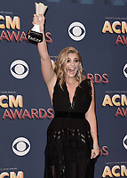 LAS VEGAS, NV - APRIL 15:  Lauren Alaina in the press room at the 53rd Annual Academy of Country Music Awards at MGM Grand Garden Arena on April 15, 2018 in Las Vegas, Nevada. (Photo by Scott Kirkland/PictureGroup)