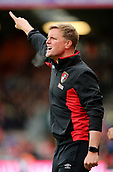 30th September 2017, Vitality Stadium, Bournemouth, England; EPL Premier League football, Bournemouth versus Leicester; Bournemouth Manager Eddie Howe shouts instructions to his players