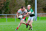 Colm O Muircheartaigh An Gealteacht and Derry ahern Listry in action during their league clash in Listry on Sunday
