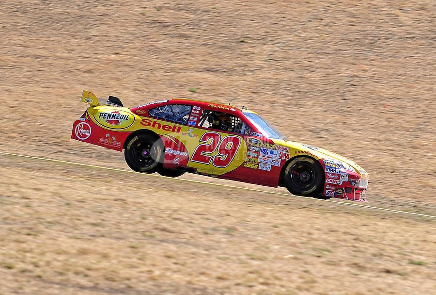 Jun. 21, 2009; Sonoma, CA, USA; NASCAR Sprint Cup Series driver Kevin Harvick during the SaveMart 350 at Infineon Raceway. Mandatory Credit: Mark J. Rebilas-