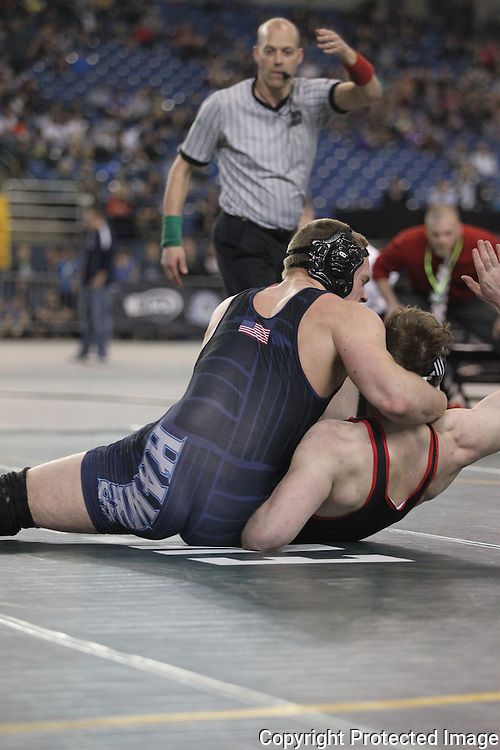 Saturday, February 19, 2016 at the Mat Classic XXVIII Championship matches held in the Tacoma Dome.   (Jim Bryant Photo)