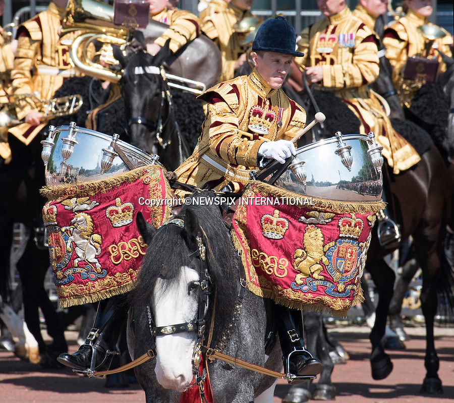 17.06.2017; London, UK: QUEEN ELIZABETH AND DUKE OF EDINBURGH <br /> attend the Trooping The Colour to celebrate the Queen&rsquo;s 91st Official Birthday<br /> Royals present included the Duke of Edinburgh, Prince Charles and Camilla, Duchess of Cornwall, Prince William, Kate Middleton, Prince George; Princess Charlotte; Prince Harry, Prince Andrew; Princess Beatrice, Princess Eugenie, Prince Edward, Princess Anne, Zara Phillips &amp; Mike Tindal, Prince and Princess Michael Of Kent, Lady Helen Taylor, Duke of Kent, Duke of Gloucester and Duchess of Gloucester,Peter Phillips and Autumn and Lady Amelia Windsor.<br /> Mandatory Credit Photo: &copy;Francis Dias/NEWSPIX INTERNATIONAL<br /> <br /> IMMEDIATE CONFIRMATION OF USAGE REQUIRED:<br /> Newspix International, 31 Chinnery Hill, Bishop's Stortford, ENGLAND CM23 3PS<br /> Tel:+441279 324672  ; Fax: +441279656877<br /> Mobile:  07775681153<br /> e-mail: info@newspixinternational.co.uk<br /> Usage Implies Acceptance of OUr Terms &amp; Conditions<br /> Please refer to usage terms. All Fees Payable To Newspix International