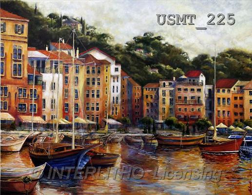 Malenda, LANDSCAPES, paintings, la-dolce-vita-I(USMT225,#L#) Landschaften, Schiffe, paisajes, barcos, llustrations, pinturas