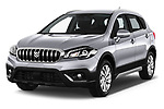 2017 Suzuki SX4-S-Cross GL+ 5 Door SUV Angular Front stock photos of front three quarter view