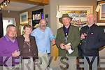 Group exhibition: At the opening of Valentia Island's newest Art Gallery a group exhibition of artists under the wing of Declan Mulvany was opened in Knightstown Valentia on Friday night.  Pictured l-r Michael & Bridie Egan, Declan Mulvany, Mike Walsh & Alan O'Sullivan.  Individual exhibitions of this groups work will take place over the coming months.