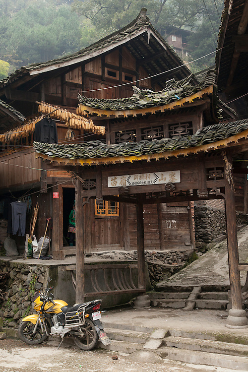 The short skirt Miao village with it's unique aquatic granaries lies at the foot of Leigong Mountain in Guizhou province.