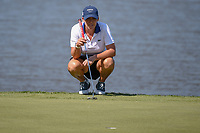 Cristie Kerr (USA) lines up her putt on 7 during round 2 of the 2018 KPMG Women's PGA Championship, Kemper Lakes Golf Club, at Kildeer, Illinois, USA. 6/29/2018.<br /> Picture: Golffile | Ken Murray<br /> <br /> All photo usage must carry mandatory copyright credit (© Golffile | Ken Murray)