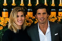 Delphina Blaquier and Nacho Figueras at The Sixth Annual Veuve Clicquot Polo Classic on Oct. 17, 2015 (Photo by Tiffany Chien/Guest Of A Guest)