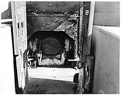 Detail view of rear of D&amp;RGW #346 C-19 showing firebox closed.<br /> D&amp;RGW  CRRM, CO  Taken by Payne, Andy M. - 3/4/1974