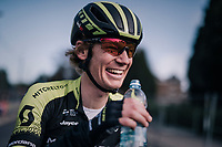 smiling Jack Haig (AUS/Michelton-Scott) post-race<br /> <br /> 58th De Brabantse Pijl 2018 (1.HC)<br /> 1 Day Race: Leuven - Overijse (BEL/202km)