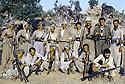 Irak 1985.Dans les zones libérées, région de Lolan, les peshmergas de la section d'Erbil.Iraq 1985.In liberated areas, Lolan district, peshmergas of Erbil branch