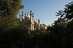 The Royal Pavilion viewed from the adjoining park, Brighton, Sussex, England UK